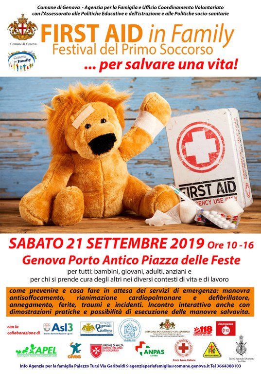 Family first aid 2019 - Locandina