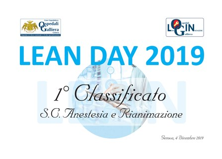 Lean Day 2019 - primi classificati