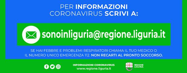 Coronavirus -  Numero Verde Regionale